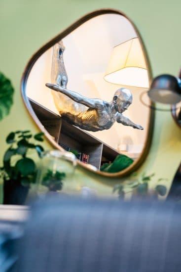 Miroir Kokot statue plongeur