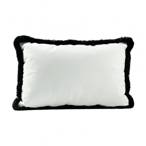 coussin froufrous blanc