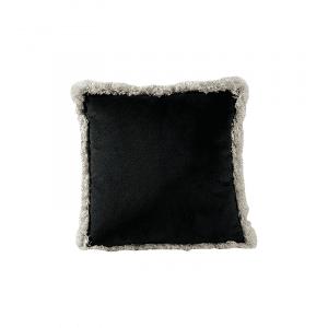 coussin froufrous noir