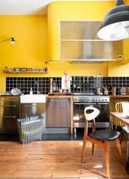 cuisine-respire-fraîcheur-beau-jaune-moutarde