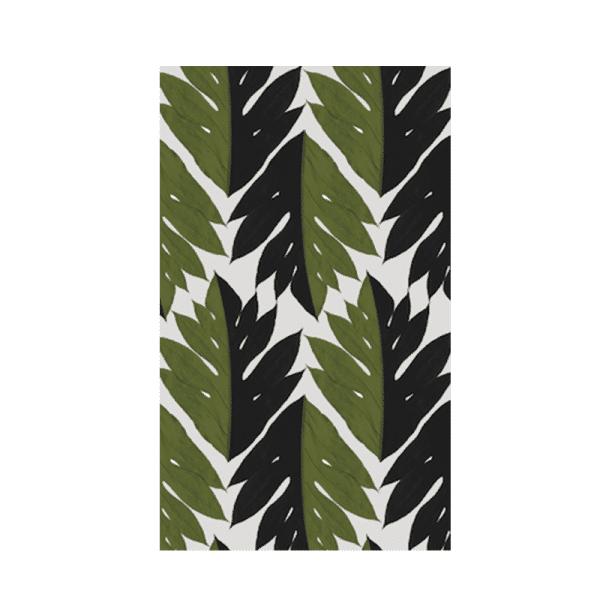 Papier-Peint tropisme vert et noir