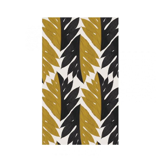 Papier-Peint tropisme jaune et noir