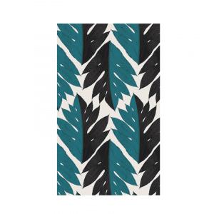 Papier-Peint tropisme bleu et noir