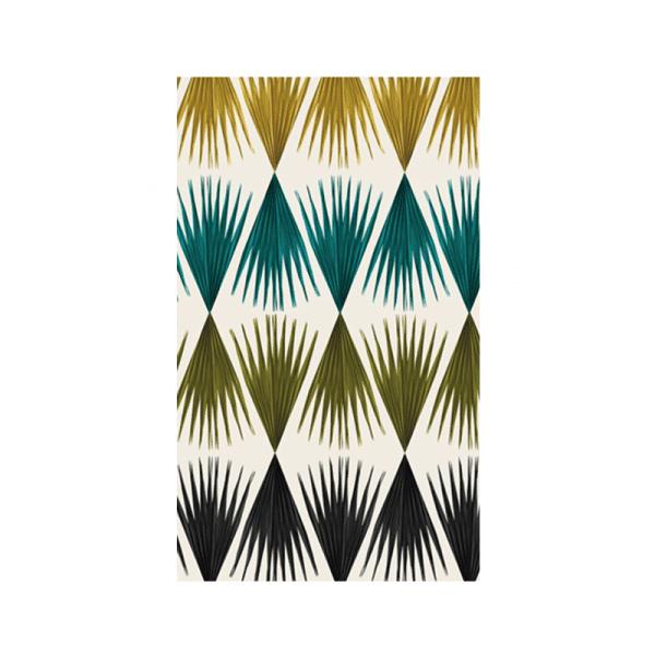 Papier-Peint bamako Jaune bleu et rouge