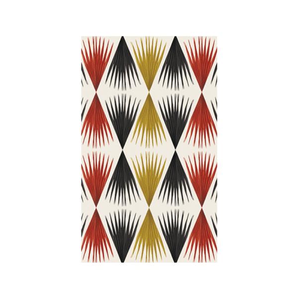 Papier-Peint bamako Jaune noir et rouge