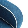 Zoom tissus fauteuil bleu