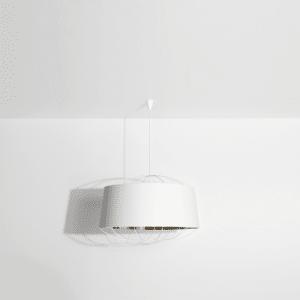 Grande s uspension lanterne blanche