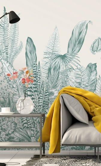 fresque papier peint papermint botanic
