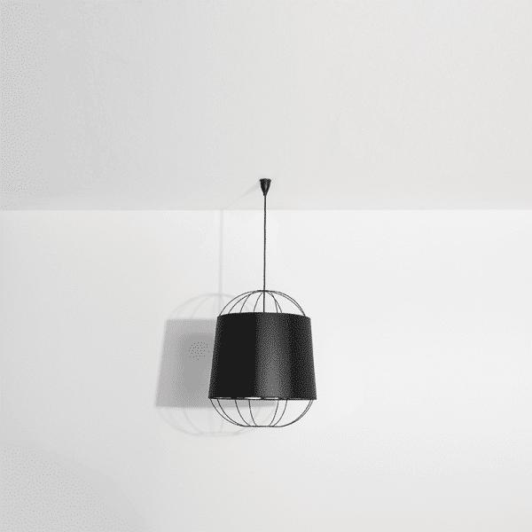 Moyenne suspension lanterne noire
