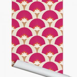 Papier peint paper mint Palm_produit_rosebeige