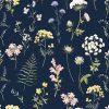 Papier peint paper mint herbier_blanc_low
