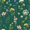 Papier peint paper mint herbier_vert_low