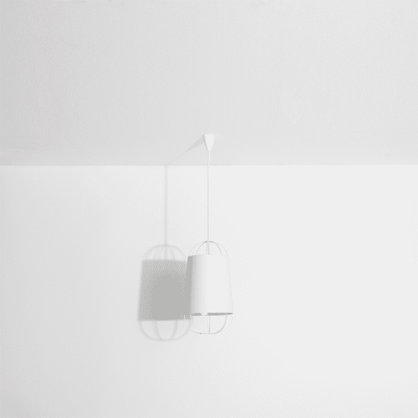 Petite suspension lanterne blanche