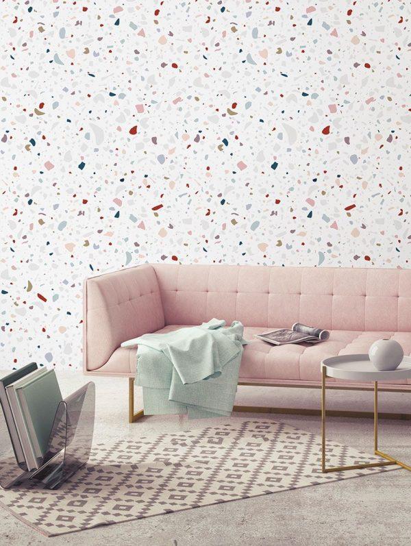 Papier peint paper mint memphis_granite_ambiance_multicolor_1