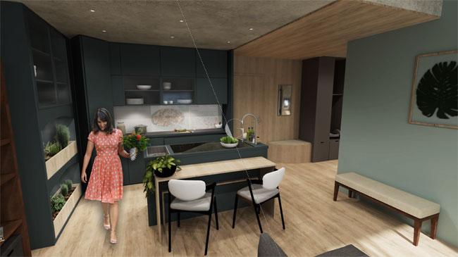 Appartement-témoin-dans-10-ans-Atelier-Germain-_-cuisine-équipée-_-potager-intérieur-hydroponie-_-espace-repas-modulable
