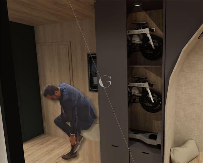 Appartement-témoin-dans-10-ans-Atelier-Germain-_-entrée-aménagée-pour-la-mobilité-urbaine