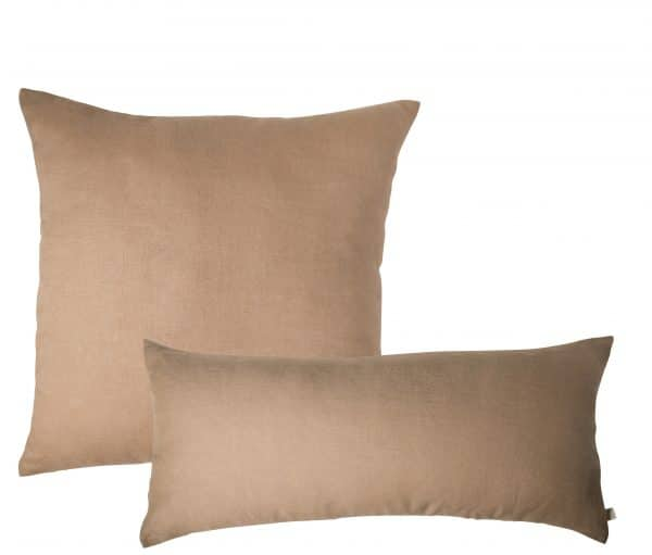 duo coussin tabac