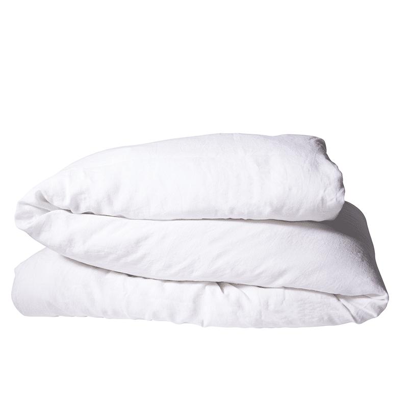 housse de couette en lin lav snow. Black Bedroom Furniture Sets. Home Design Ideas