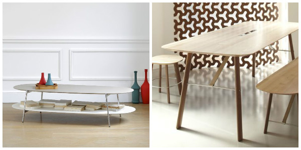 Table basse coedition, banc A+A Cooren