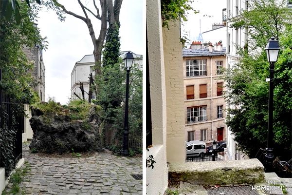 Arrivée avec vue à l'Hôtel Particulier Montmartre