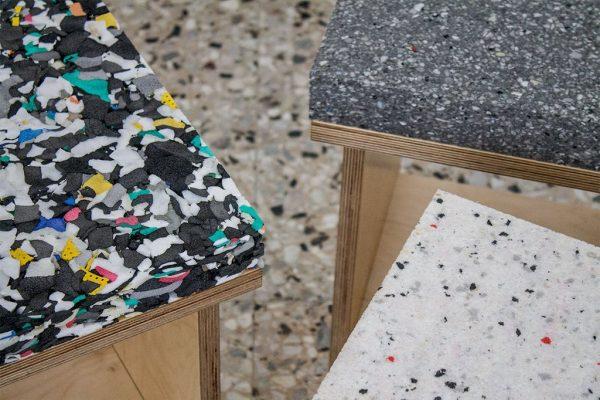 Tabourets en marbre et terrazzo de Davide G. Aquini