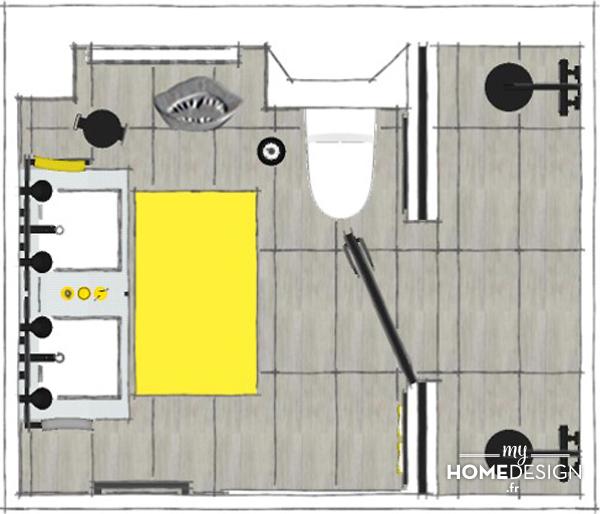 Vue en plan_LER05_une salle de bains esprit atelier